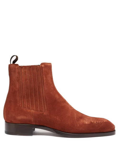 Christian Louboutin - Angloman Leather Chelsea Boots - Mens - Brown
