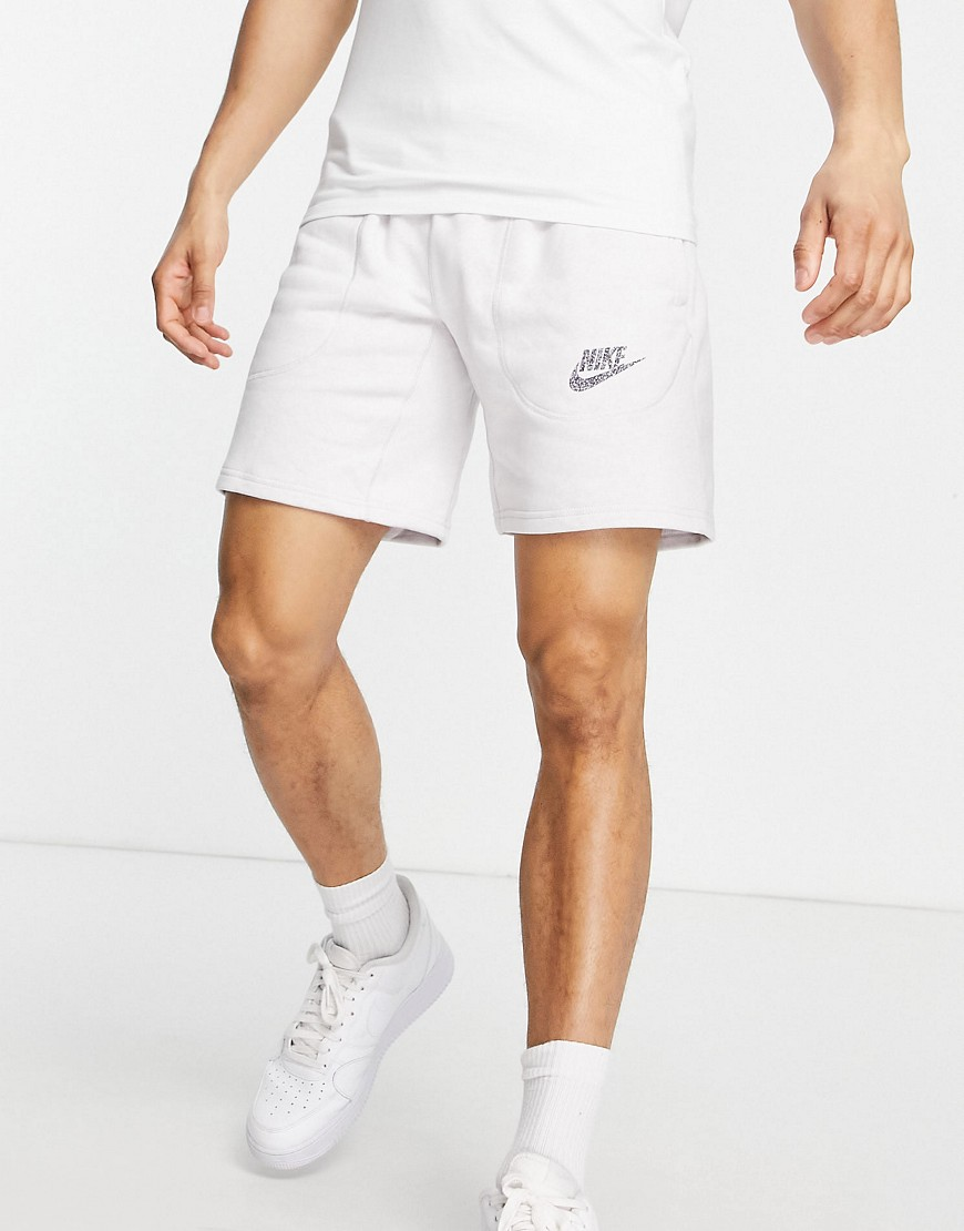 Nike French Terry shorts in white