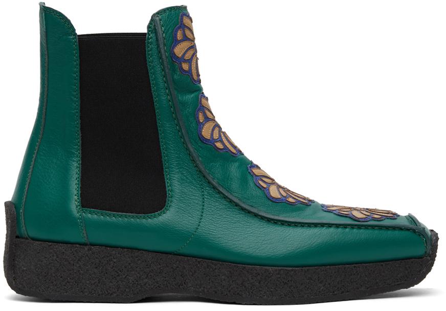 Kiko Kostadinov 绿色 Freydal 切尔西靴