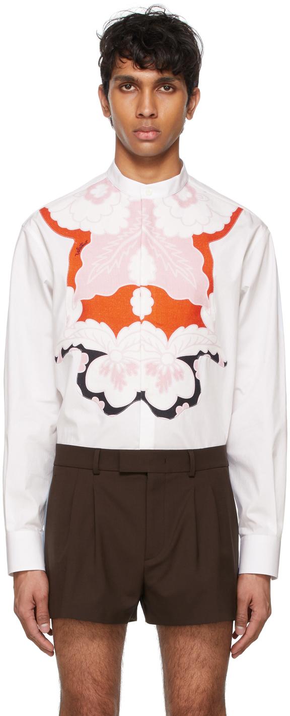 Valentino 白色贴花衬衫