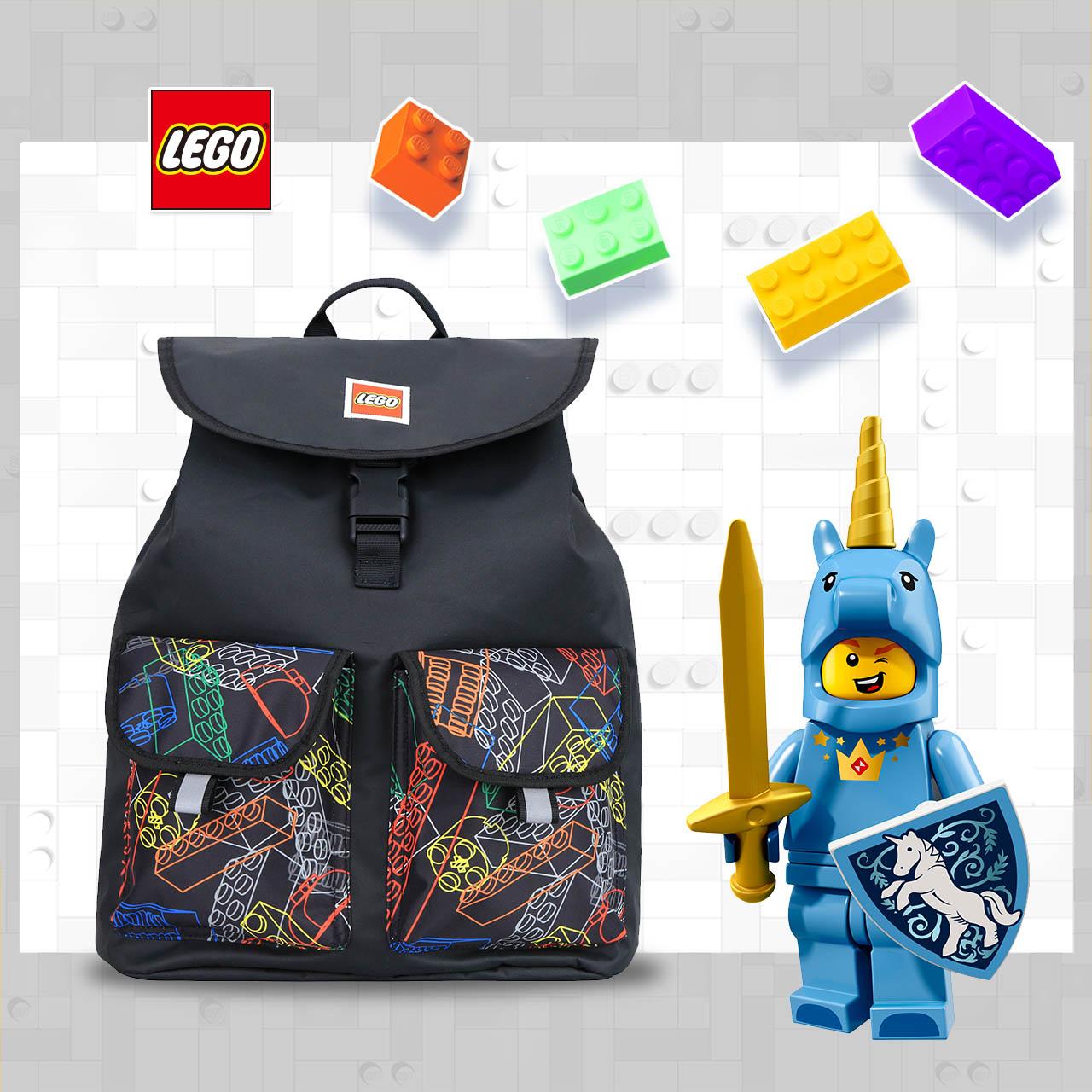 LEGO丹麥樂高積木背景背包-彩色 20132-1942