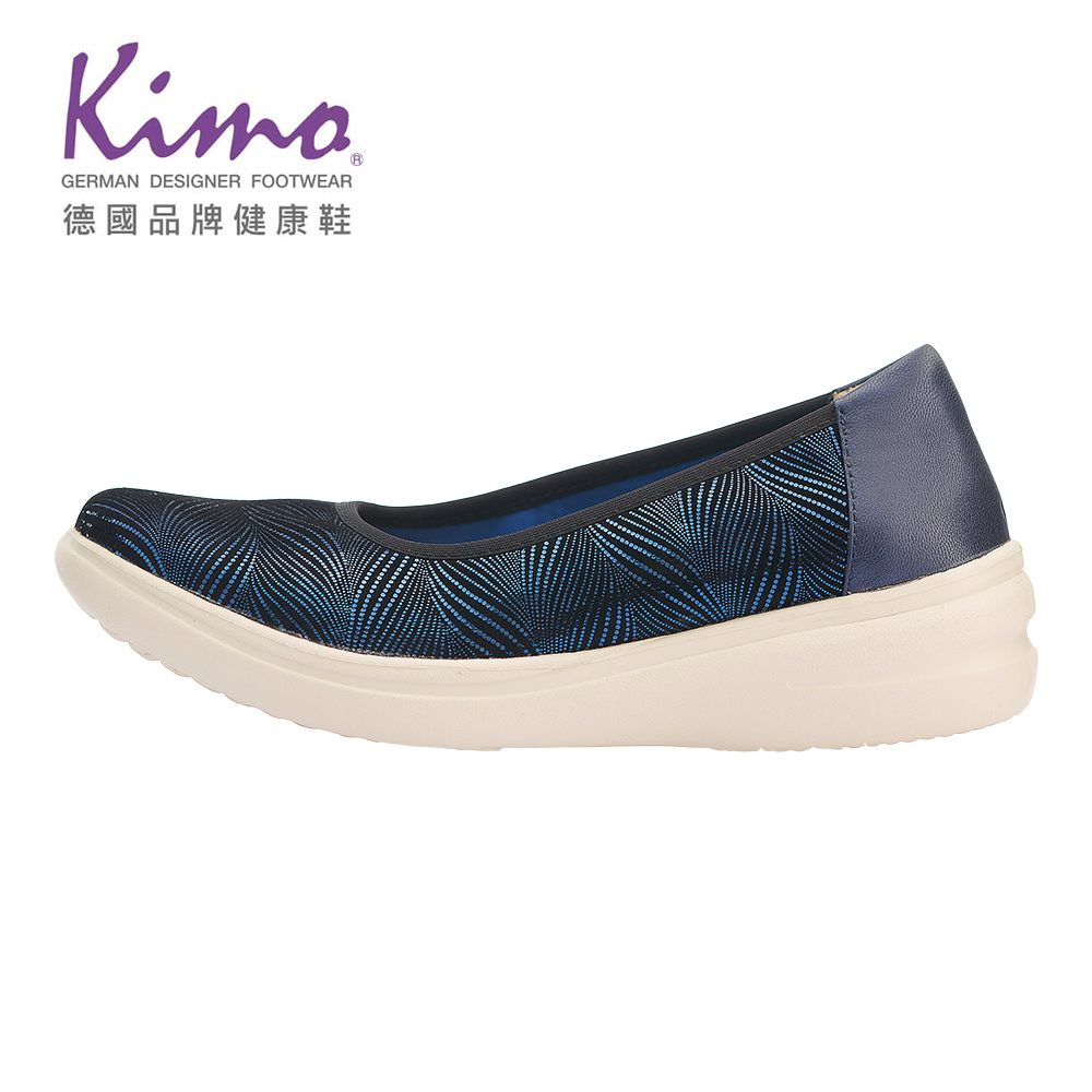 Kimo閃亮圖騰輕量氣墊休閒鞋 女鞋 (藍 KBASF071496)