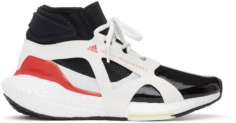 adidas by Stella McCartney 黑色 & 白色 Ultraboost 21 高帮运动鞋