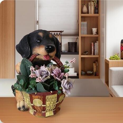 狗家裝飾品擺件創意客廳玄關家居裝飾小擺設房間臥室鞋柜鑰匙收納 芭蕾朵朵