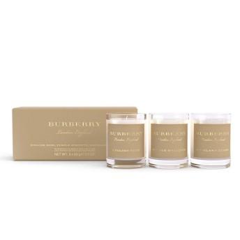 BURBERRY 經典香氛蠟燭禮盒 65gx3 (英倫玫瑰/紫色風信子/高地野莓) 【SP嚴選家】