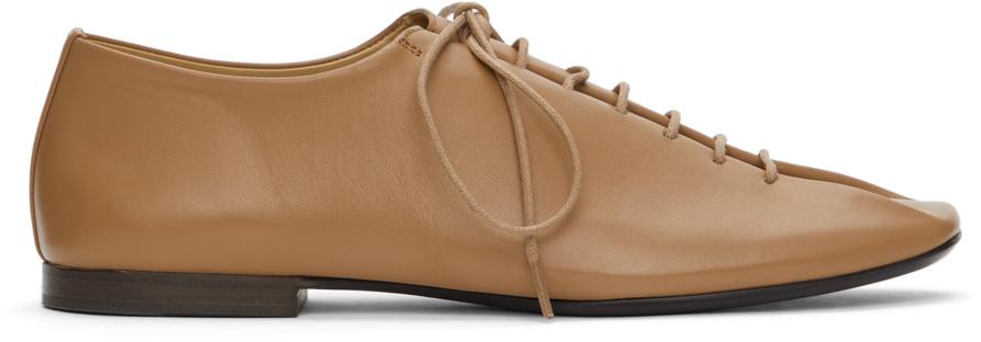 Lemaire SSENSE 独家发售黄褐色方头德比鞋