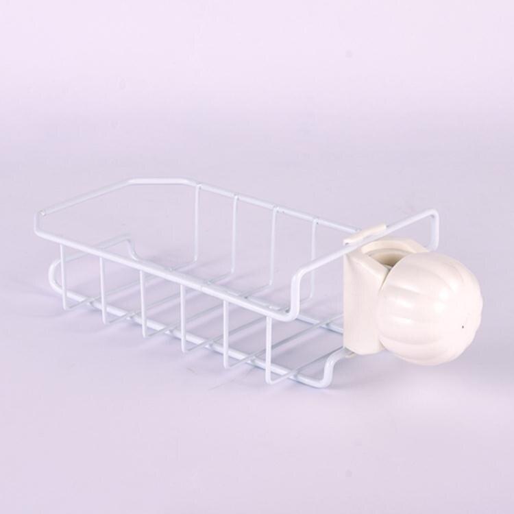 不銹鋼水龍頭置物架廚房收納神器掛籃海綿抹布架瀝水架水槽收納架 芭蕾朵朵