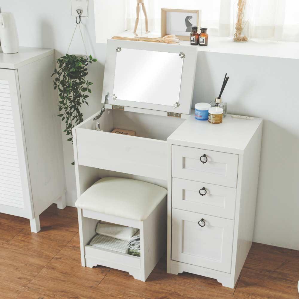 愛比蓋爾掀蓋化妝桌椅組(兩色) 完美主義【P0015】