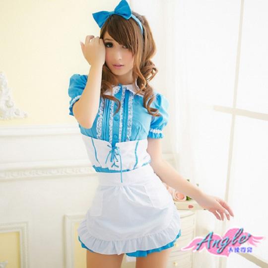 天使霓裳 超萌仙度瑞拉 女僕角色服 三件組(藍F)