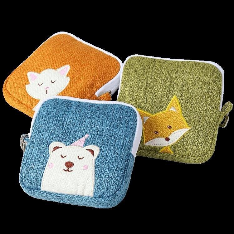 衛生巾姨媽巾收納包 可愛便攜包學生月事袋袋子生理期m巾小包姨媽 芭蕾朵朵