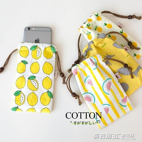 6寸大號 夏天手機包女韓版可愛小清新耳機充電寶收納袋抽線手機袋 伊衫風尚3c專賣店