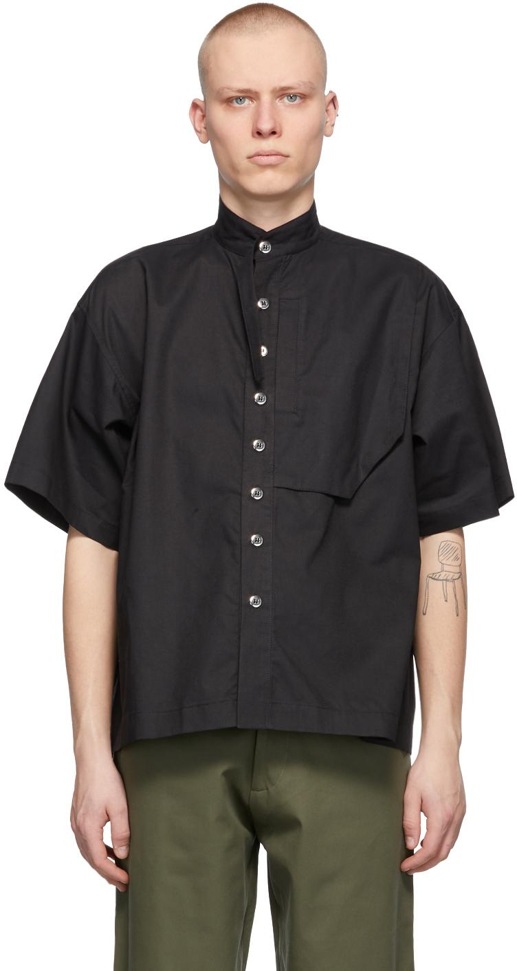 Spencer Badu 黑色 Cargo Camp 短袖衬衫