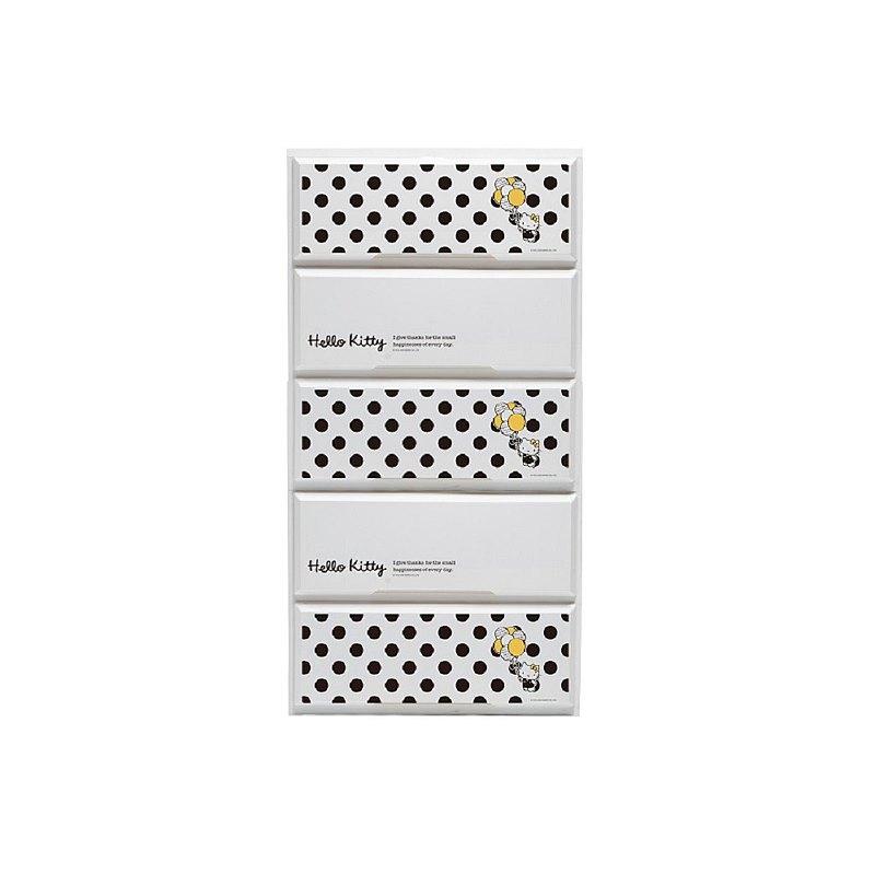 【livinbox】MB-5505BS8 黑點點白底Kitty收納櫃