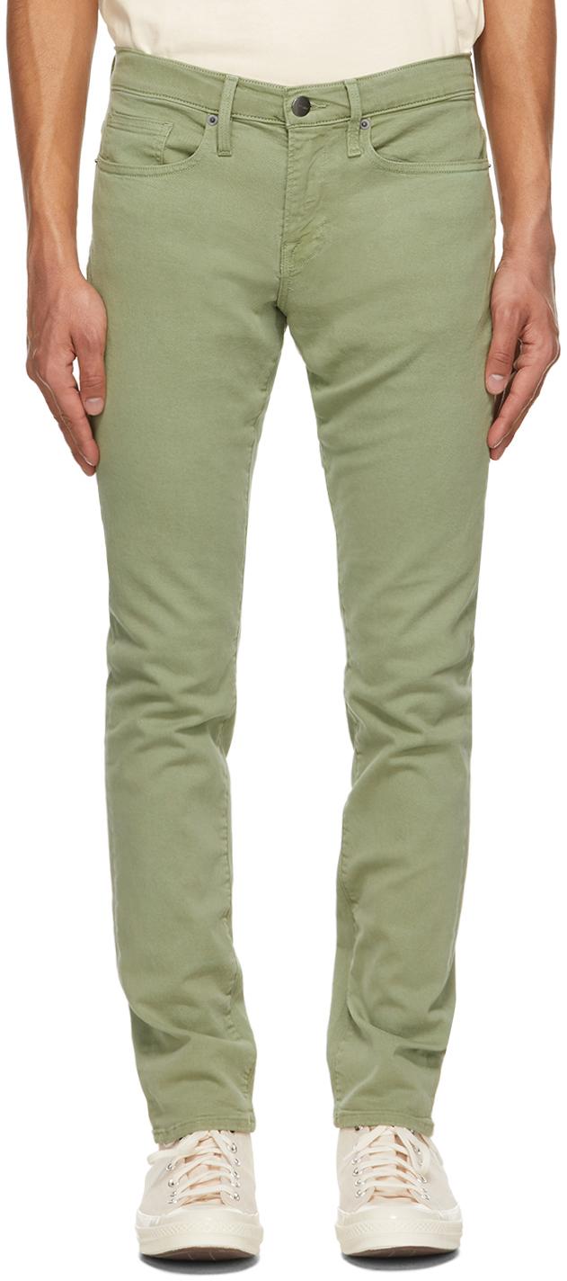 FRAME 绿色 L'Homme Slim 牛仔裤