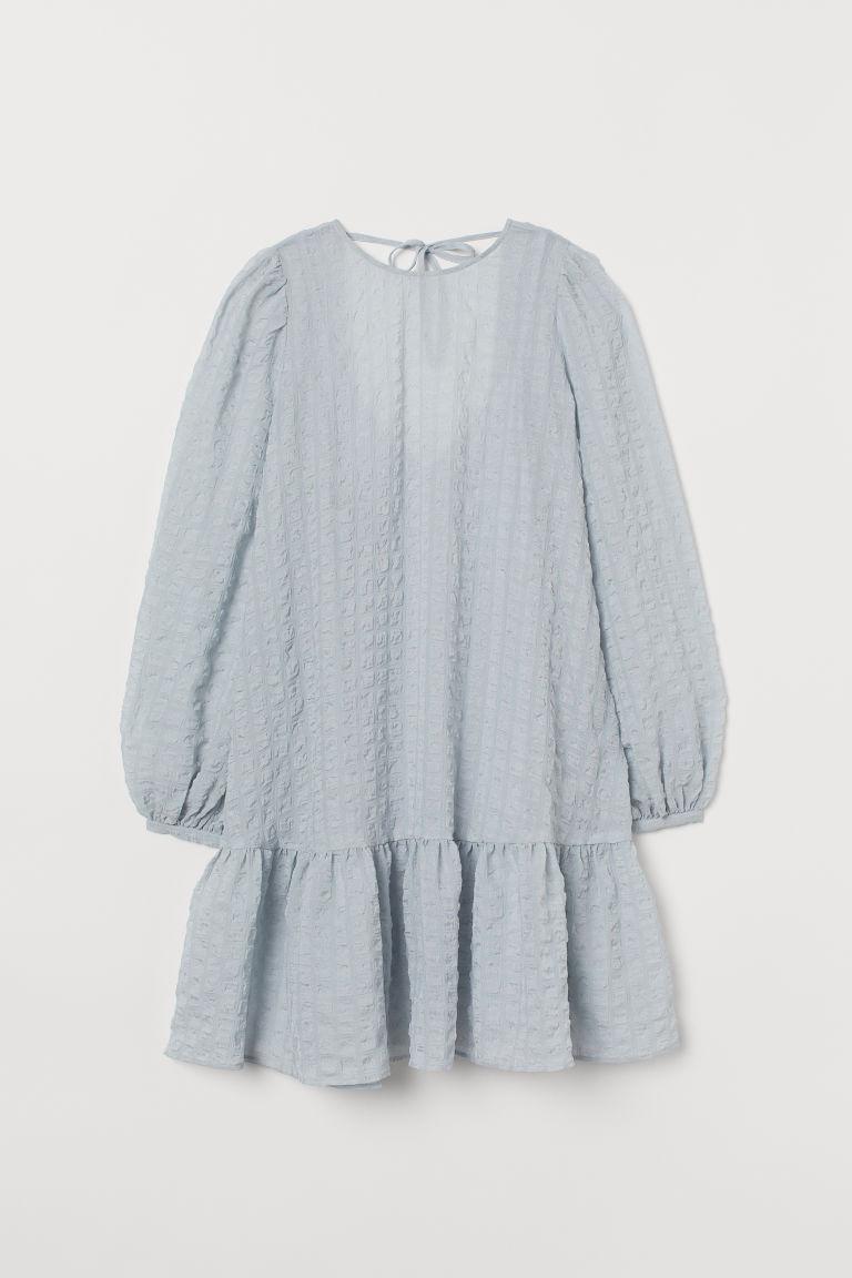 H & M - A字洋裝 - 藍綠色