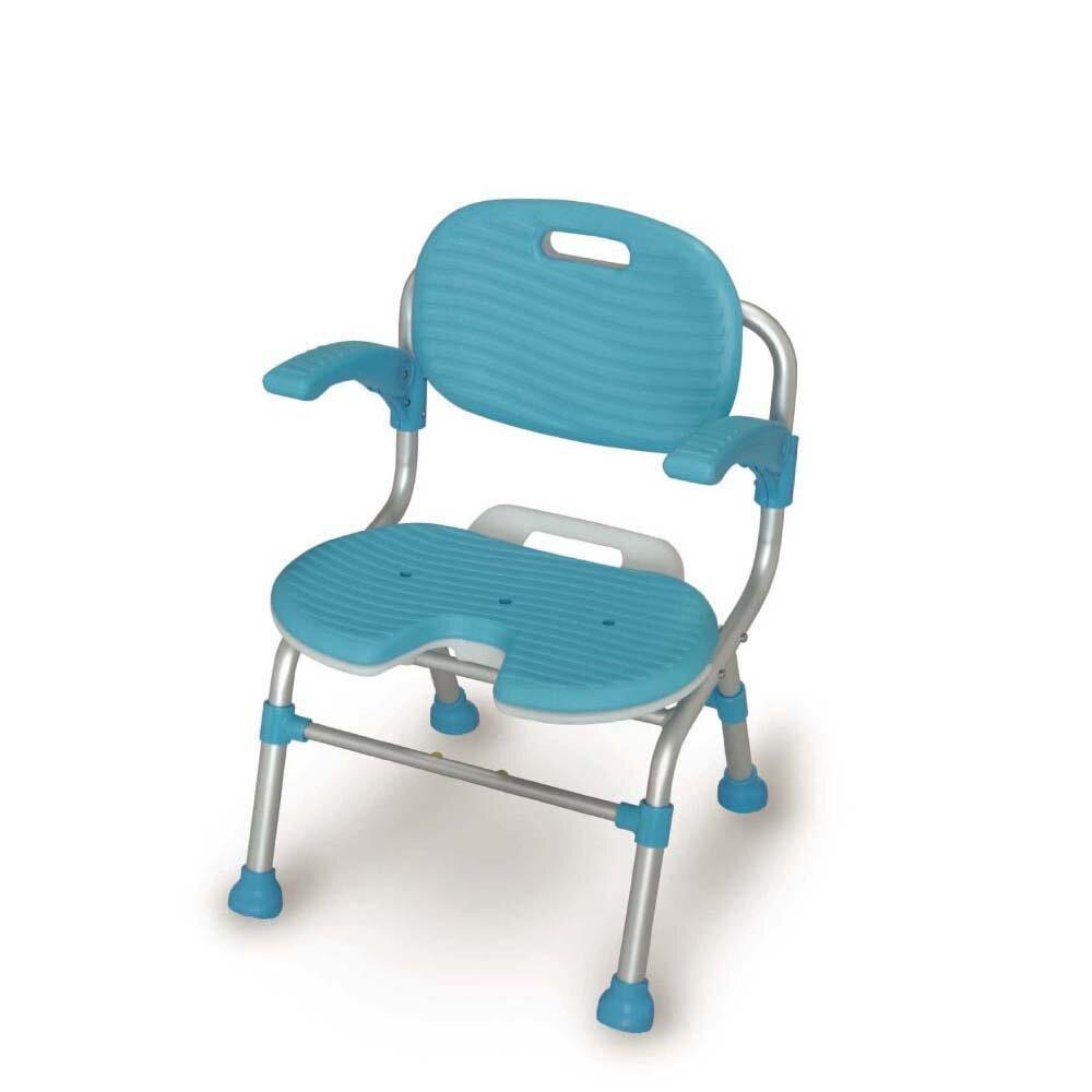 樂活動  TacaoF折疊式U型座墊洗澡椅