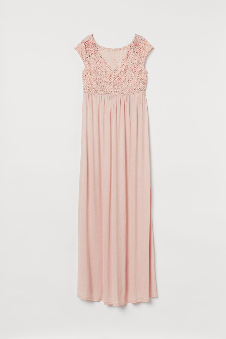 H & M - MAMA 蕾絲胸衣洋裝 - 粉紅色