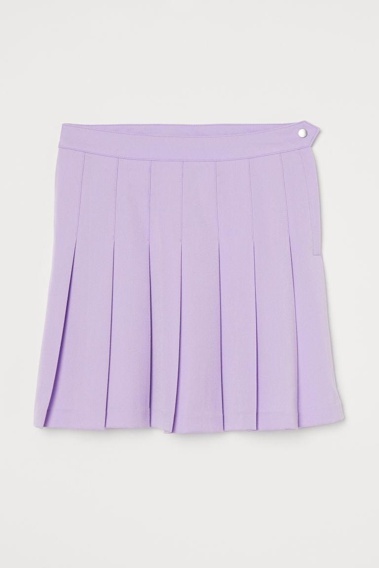 H & M - 百褶裙 - 紫色