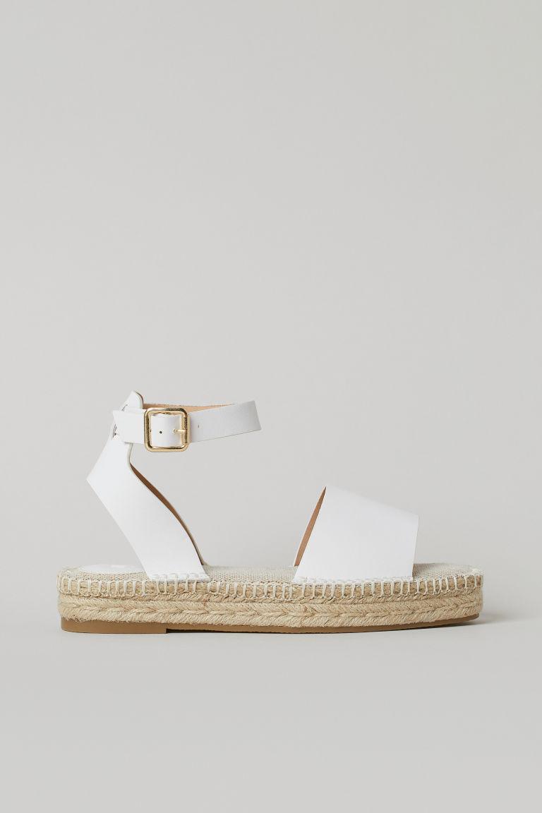 H & M - 草編鞋 - 白色
