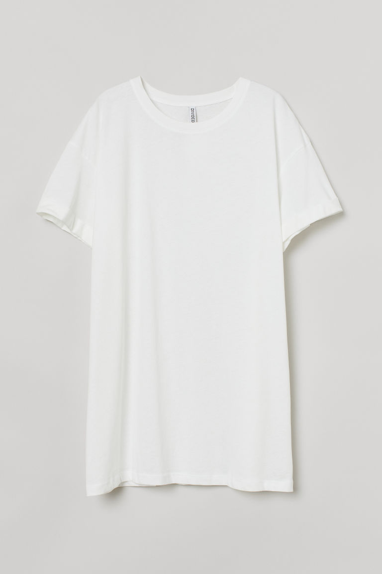 H & M - H & M+ 棉質T恤 - 白色
