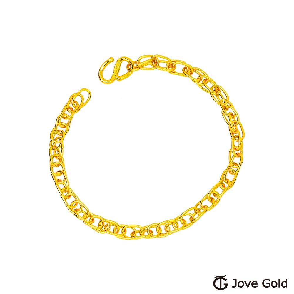 JoveGold漾金飾 午後暖陽黃金手鍊