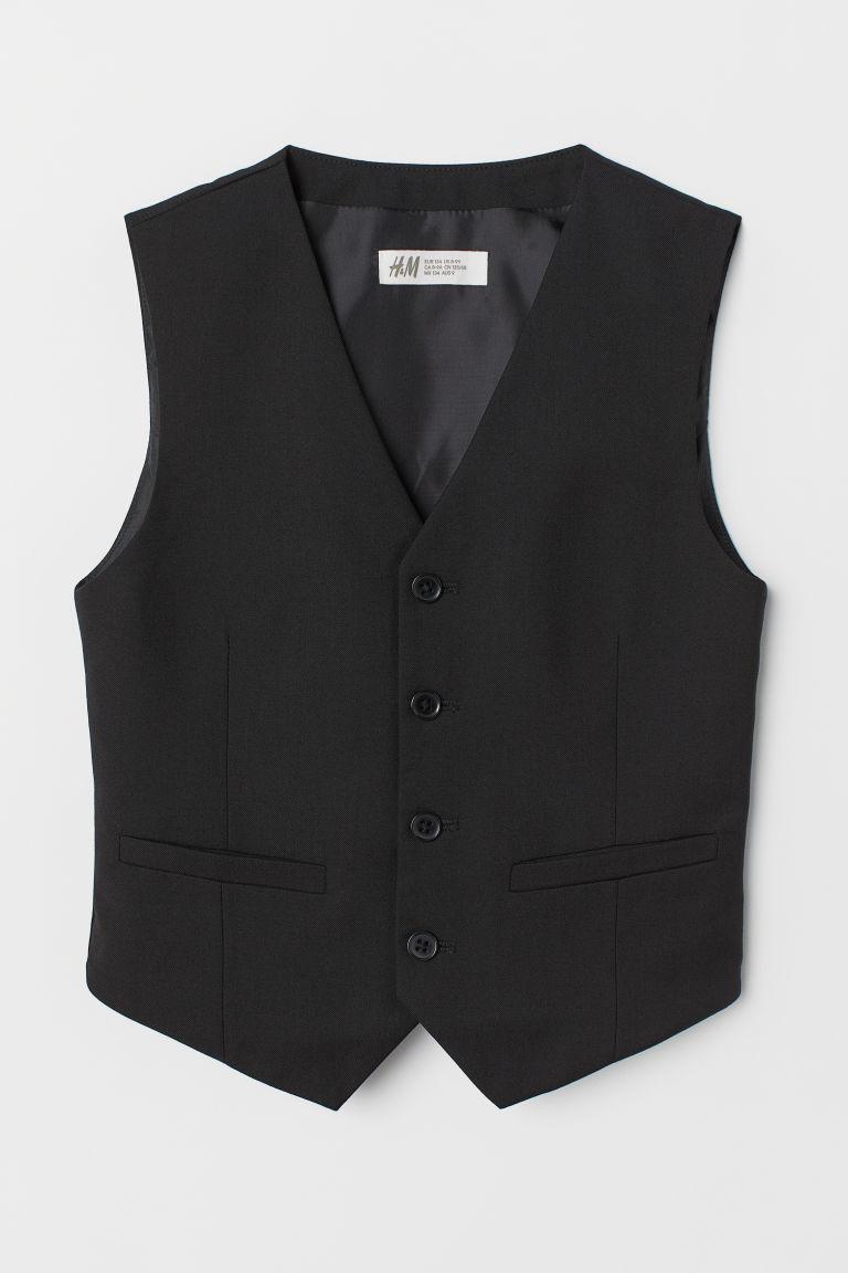 H & M - 西裝背心 - 黑色
