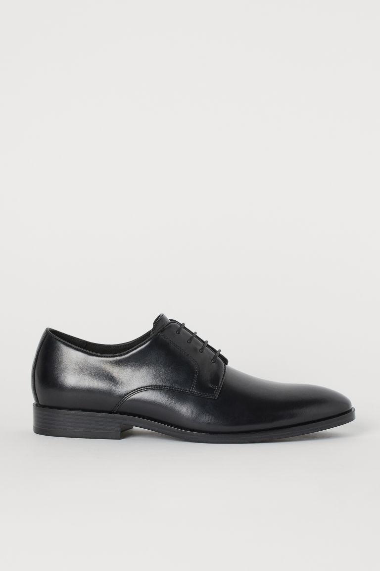 H & M - 德比鞋 - 黑色