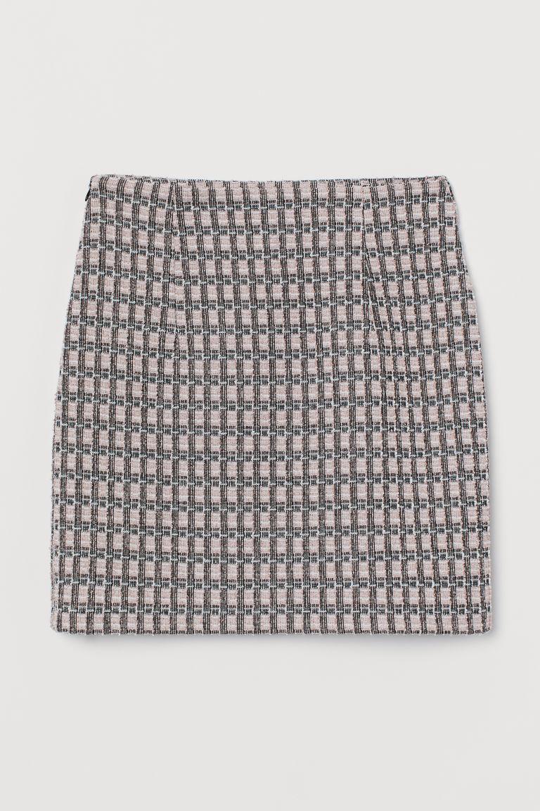 H & M - 提花針織裙 - 粉紅色