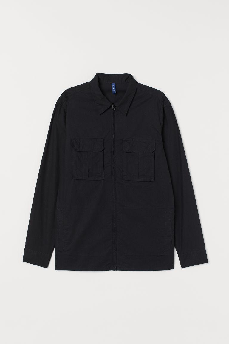 H & M - 襯衫式外套 - 黑色