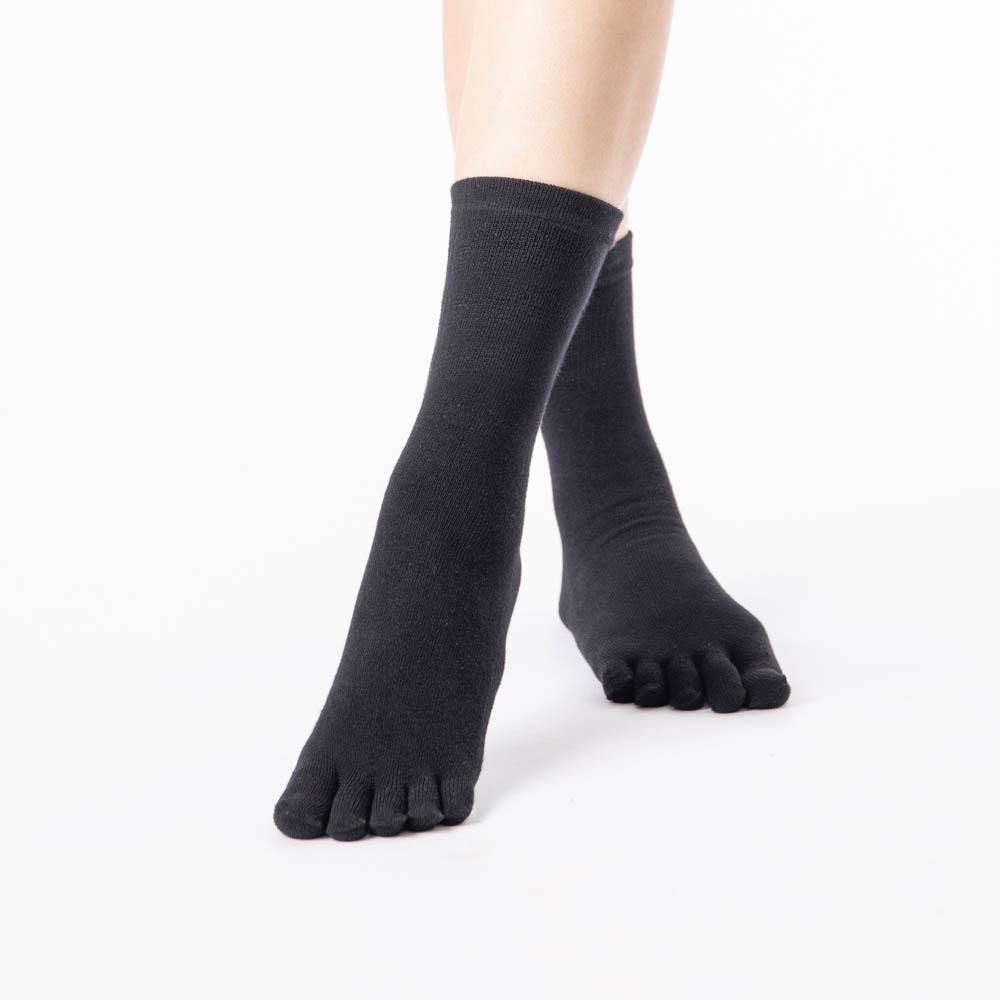 中筒五趾襪-黑色 (商品編號:S0300111)