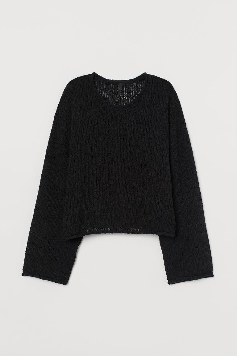 H & M - 毛圈紗套衫 - 黑色