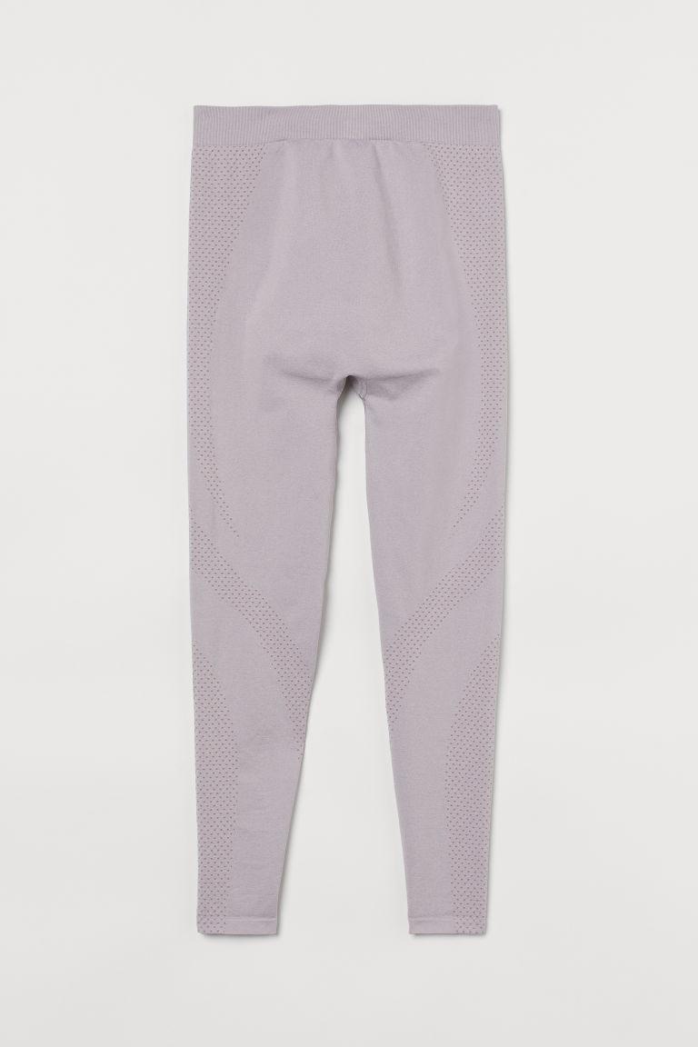 H & M - MAMA 無痕緊身運動褲 - 紫色
