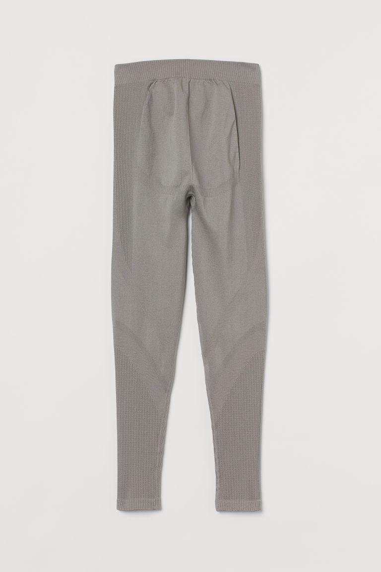 H & M - MAMA 無痕緊身運動褲 - 灰色