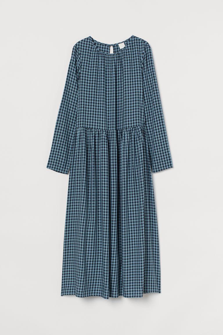 H & M - 中長版洋裝 - 藍綠色