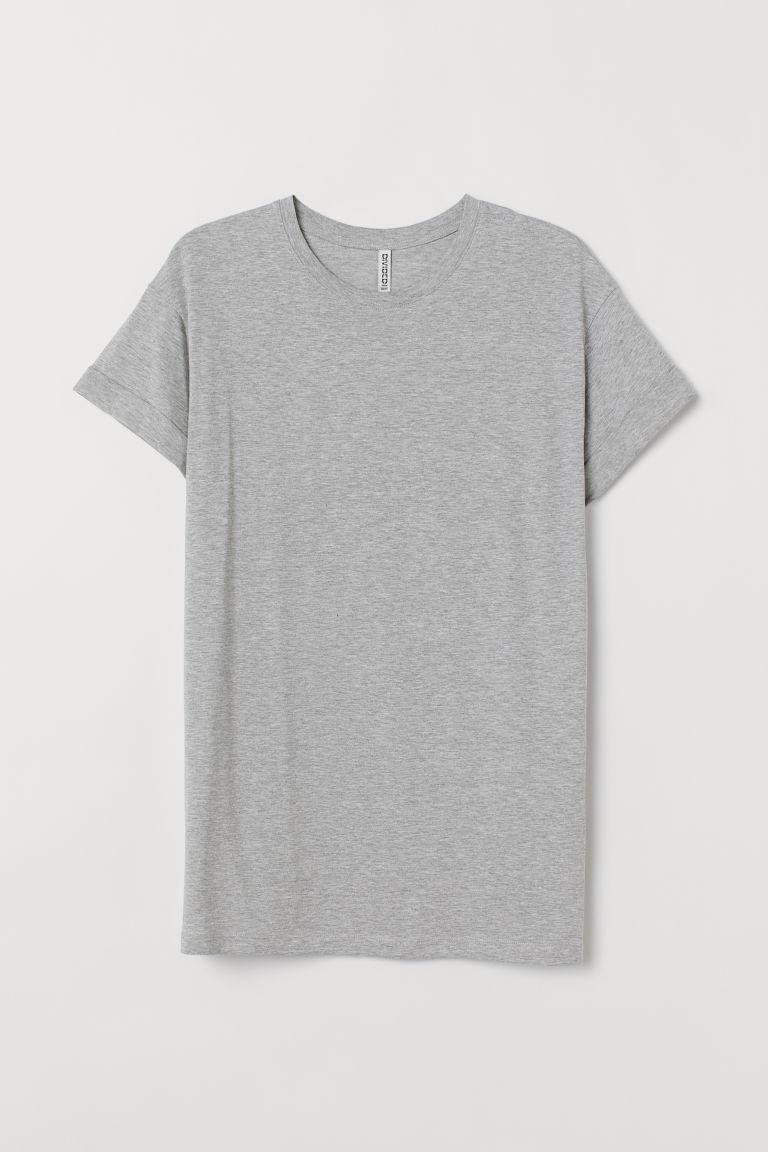H & M - 長版T恤 - 灰色