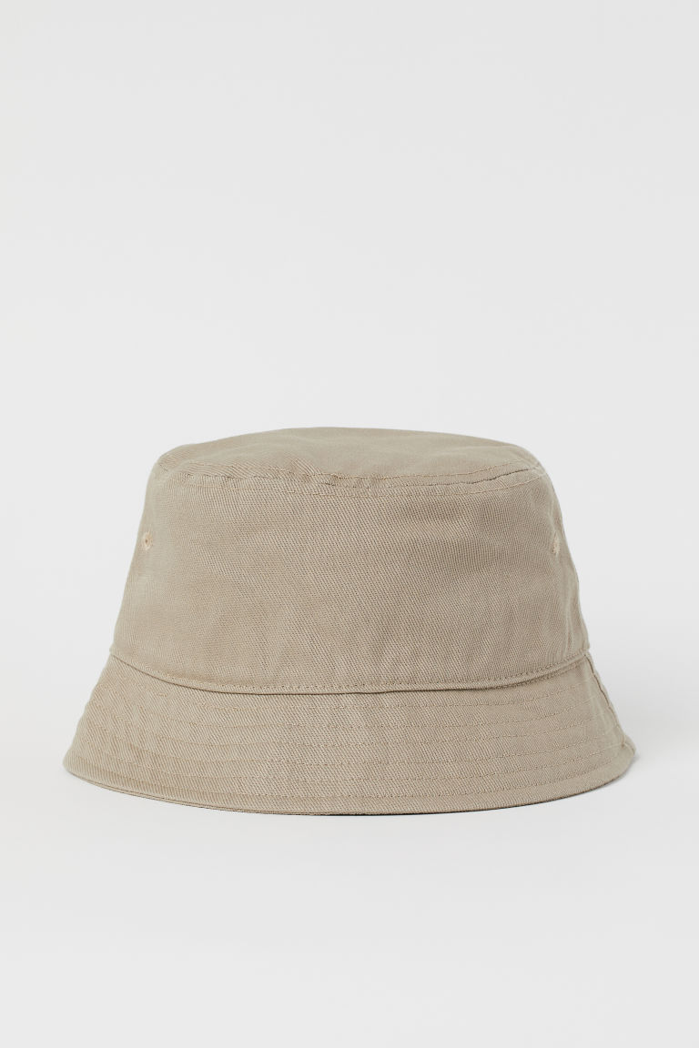 H & M - 棉質漁夫帽 - 米黃色