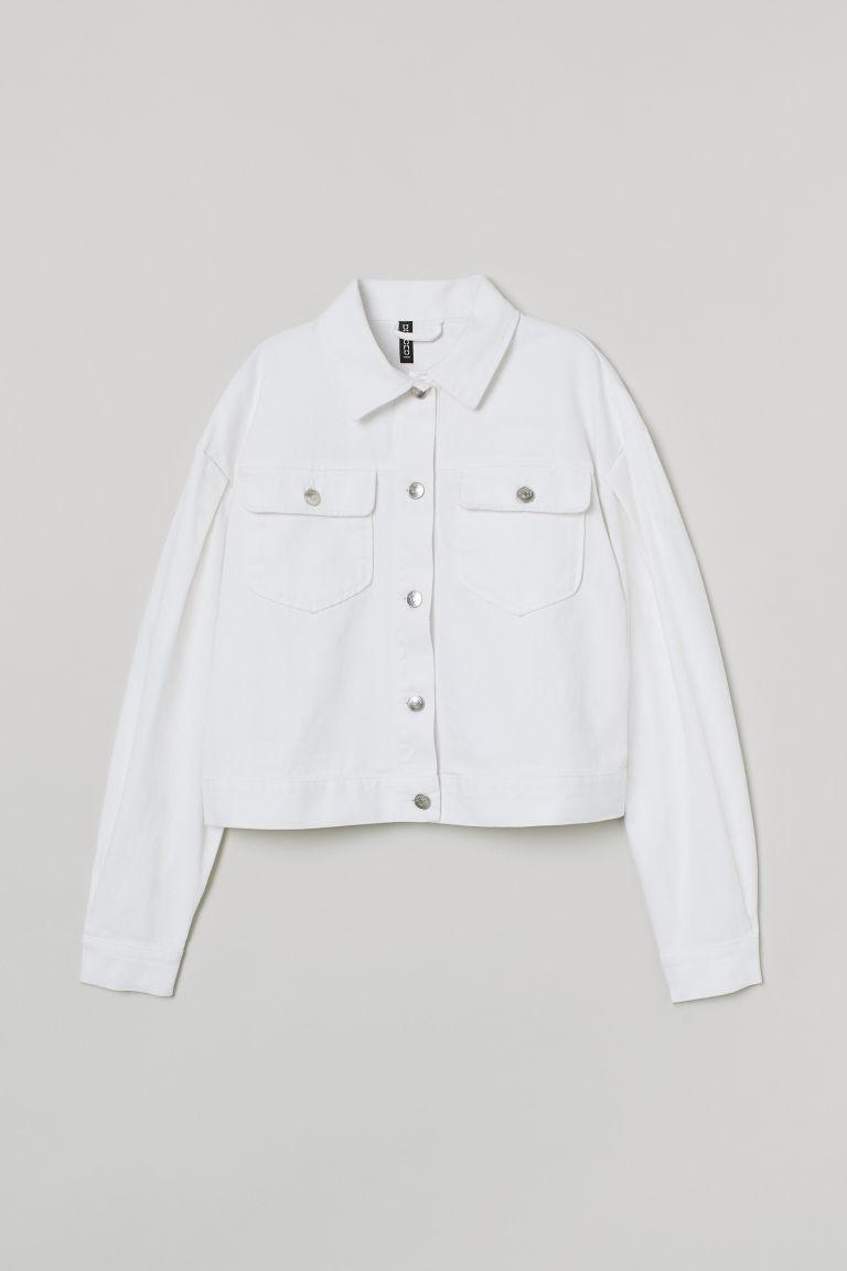H & M - 斜紋外套 - 白色