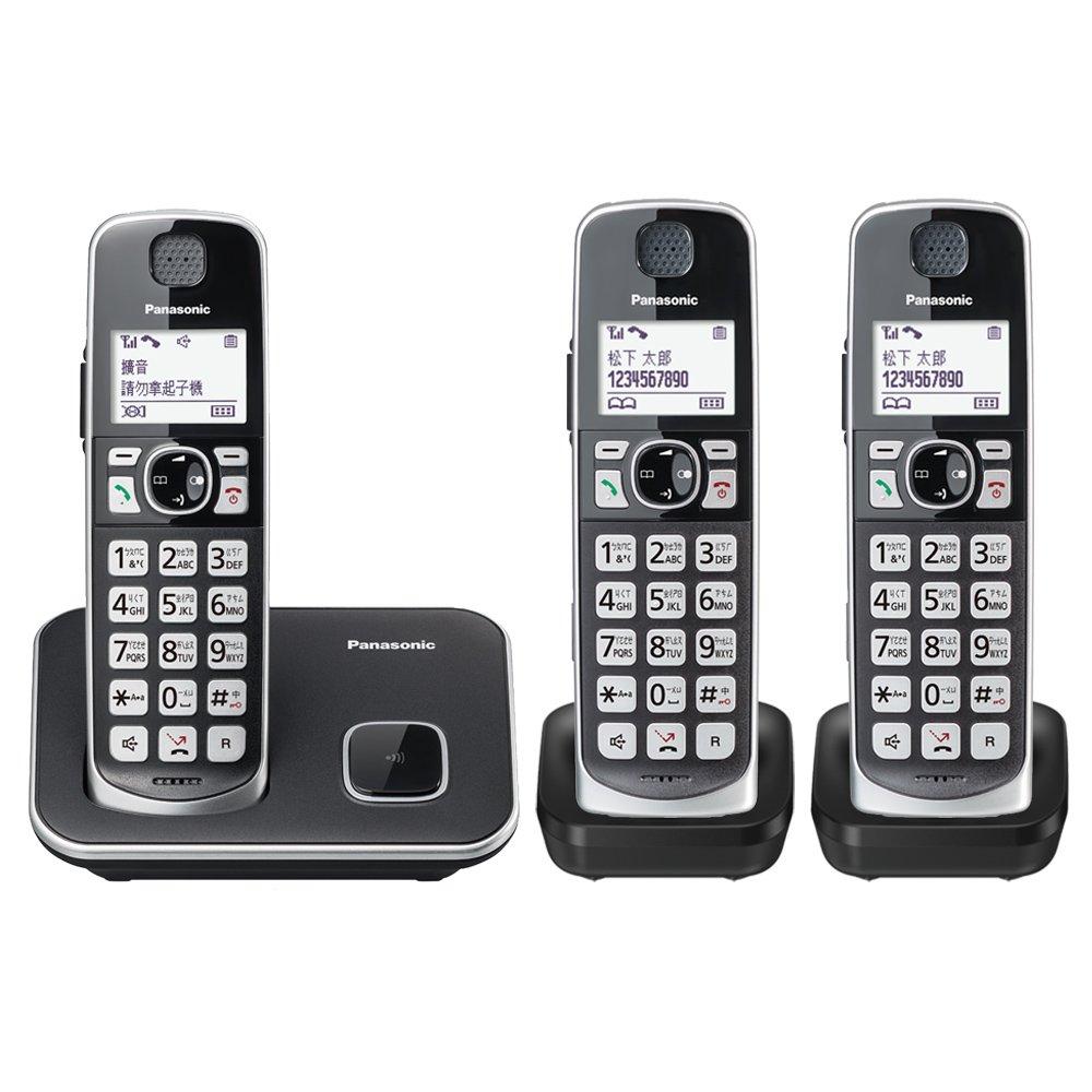 【Panasonic國際牌】KX-TGE613 / KX-TGE613TW  中文大字鍵三話機無線電話 贈國際牌負離子梳