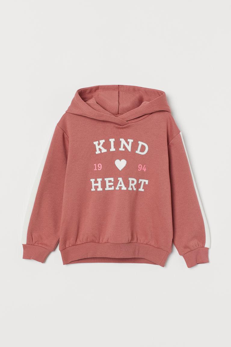 H & M - 圖案連帽上衣 - 粉紅色