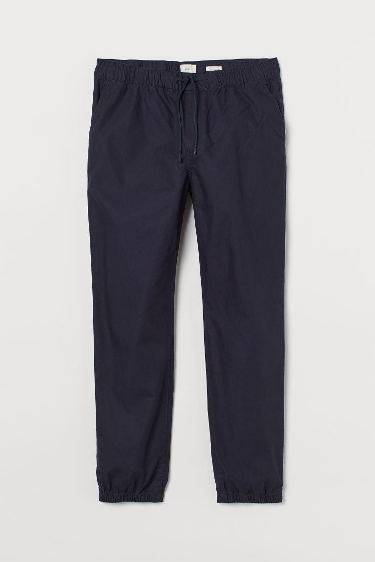 H & M - 合身慢跑褲 - 藍色