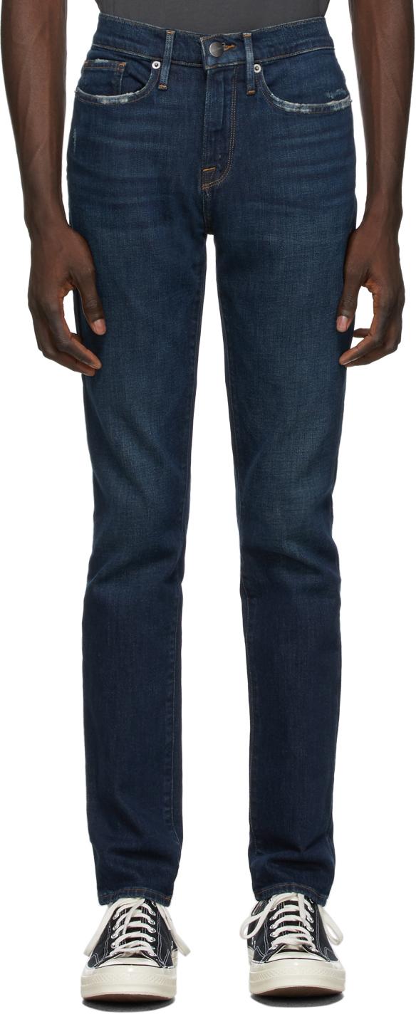 FRAME 靛蓝色 L'Homme Skinny 牛仔裤