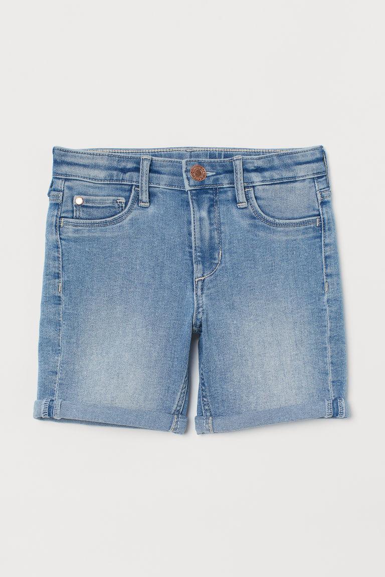 H & M - 丹寧短褲 - 藍色