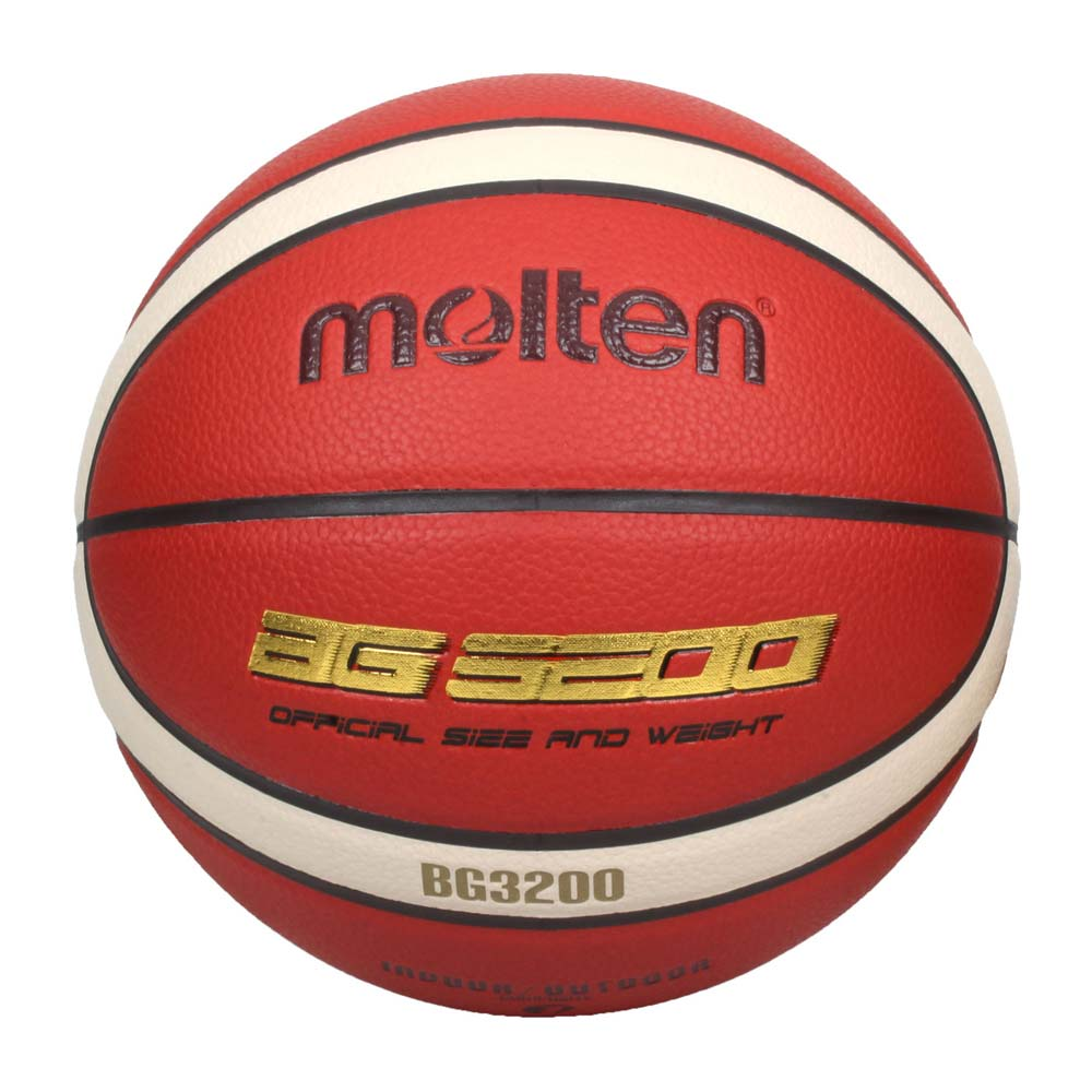 MOLTEN #7合成皮12片貼籃球-室內 室外 戶外 訓練 7號球 橘米白金 F