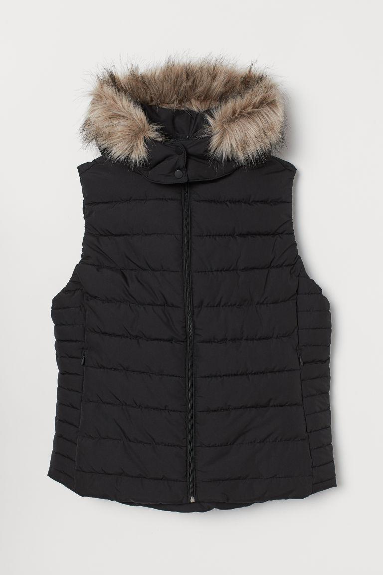 H & M - H & M+ 鋪棉背心 - 黑色