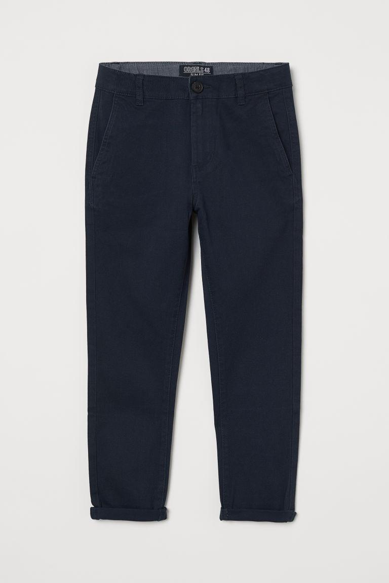 H & M - 貼身卡其褲 - 藍色