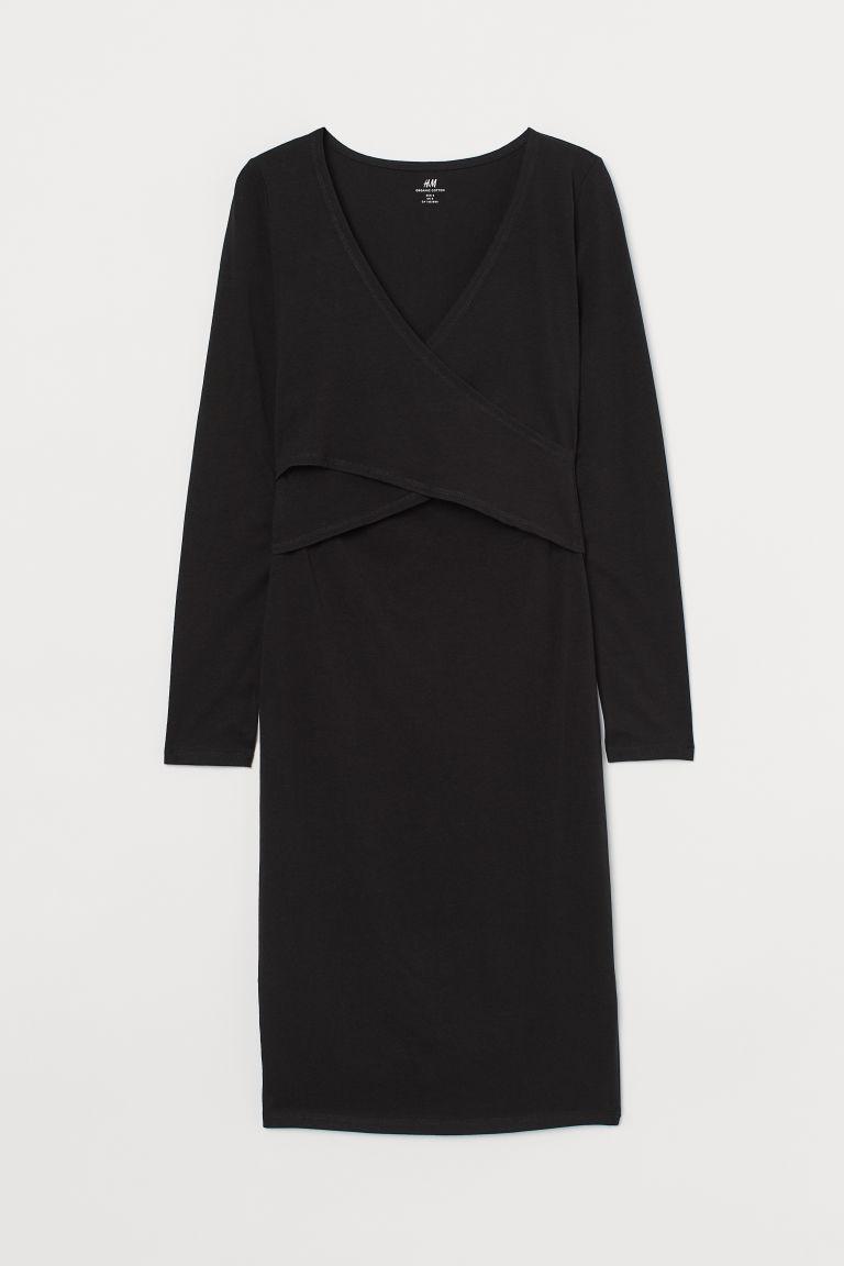 H & M - MAMA 哺乳洋裝 - 黑色