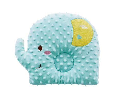 nac nac 魔豆造型枕-大象(湖水藍)