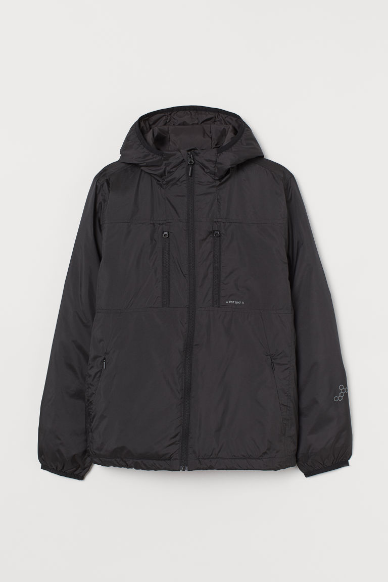 H & M - 輕薄外套 - 黑色