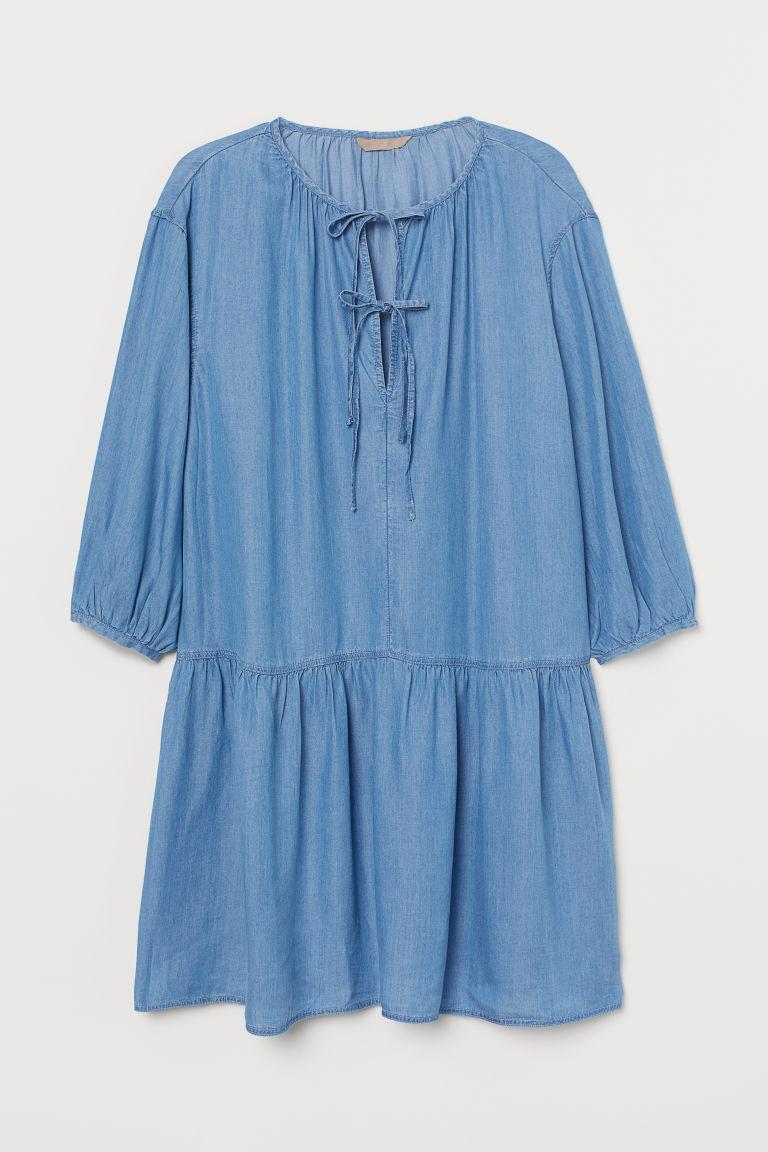 H & M - H & M+ 萊賽爾洋裝 - 藍色