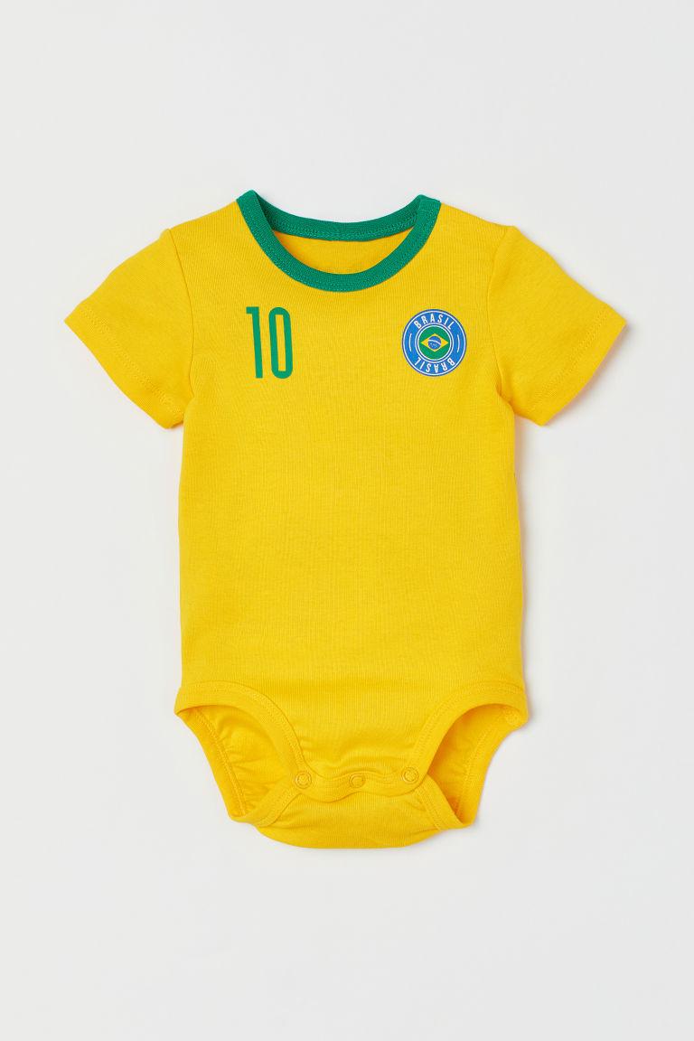 H & M - 足球連身衣 - 黃色